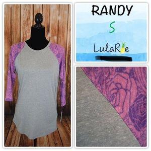 Lularoe Randy Women's Small Gray Purple Floral